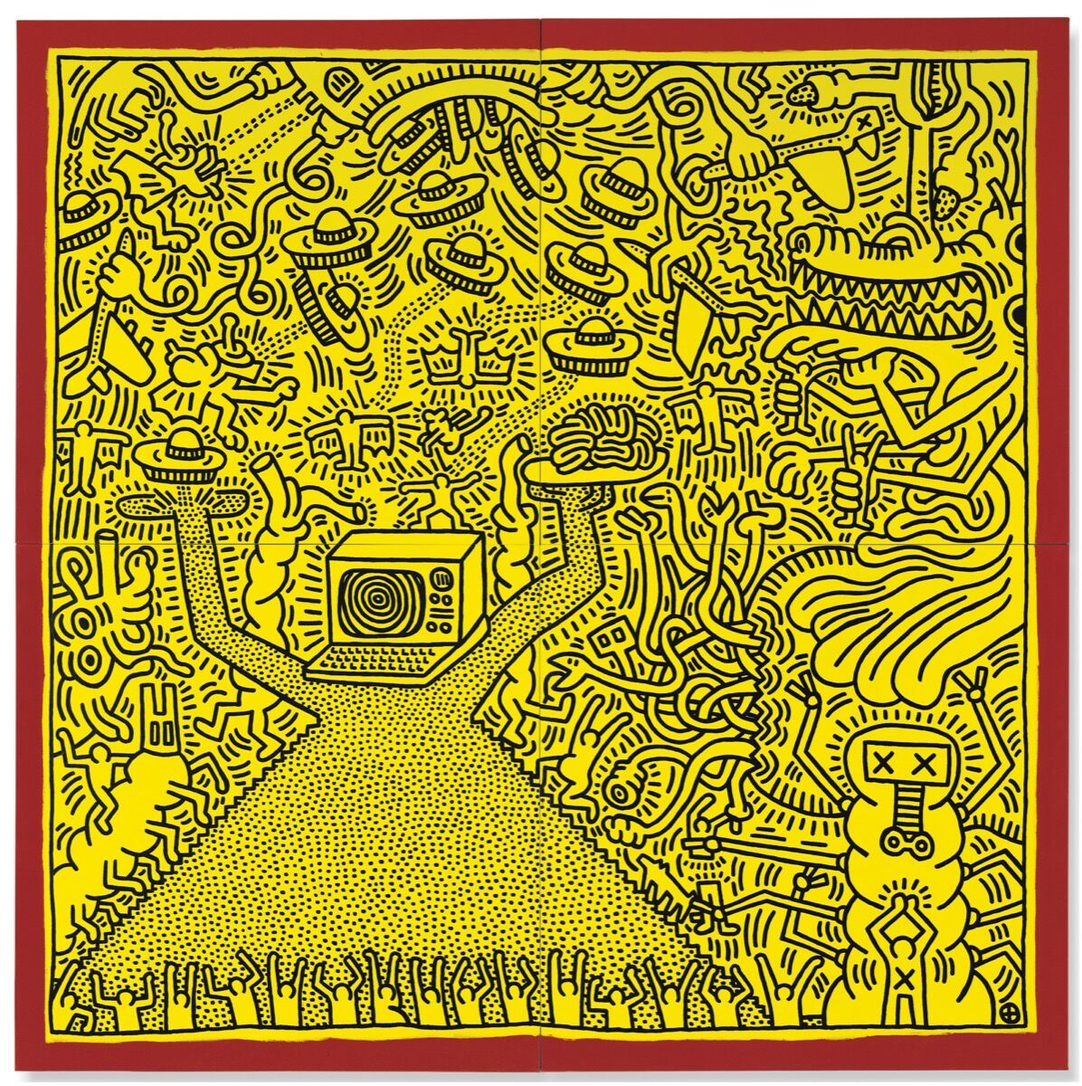 Keith Haring, Untitled, 1984. Courtesy of Christie's.