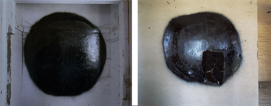Left: John Divola, Dark Star B (2007). Right: John Divola, Dark Star C (2007). Courtesy of the artist and Maccarone.