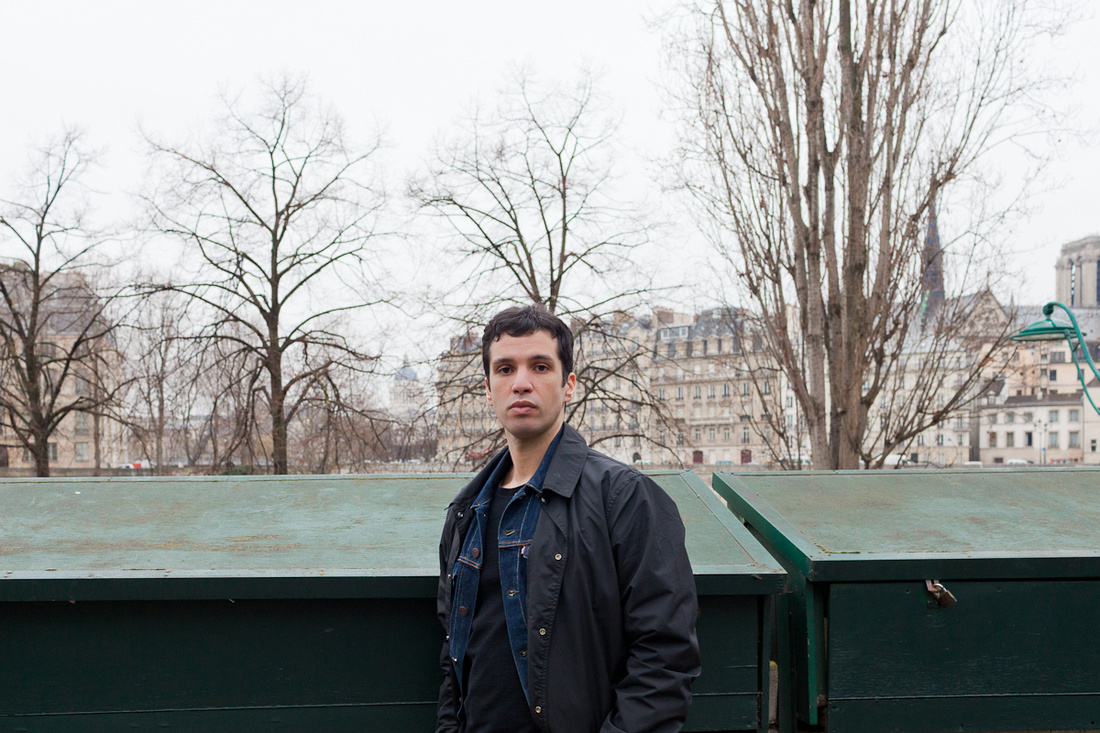Portrait of Achraf Touloub in Paris by Fred Lahache for Artsy.