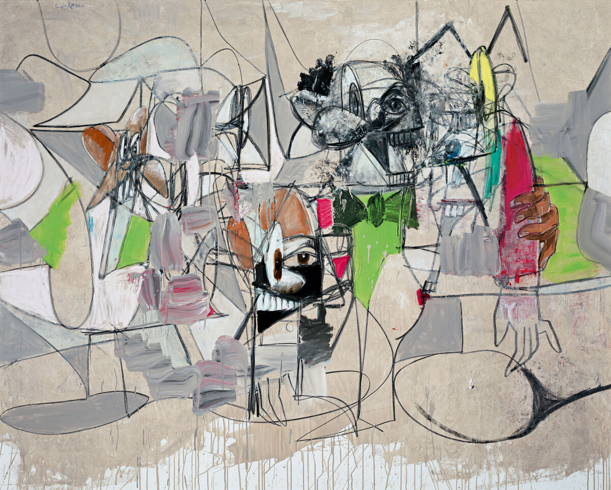George Condo, Rainy Day Butler, 2012. Courtesy of Sotheby's.