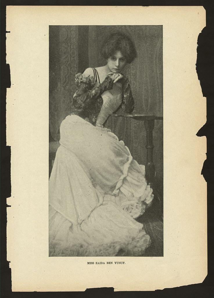 Zaida Ben-Yusuf, Miss Zaida Ben Yusuf, 1901. Photo via the Library of Congress.