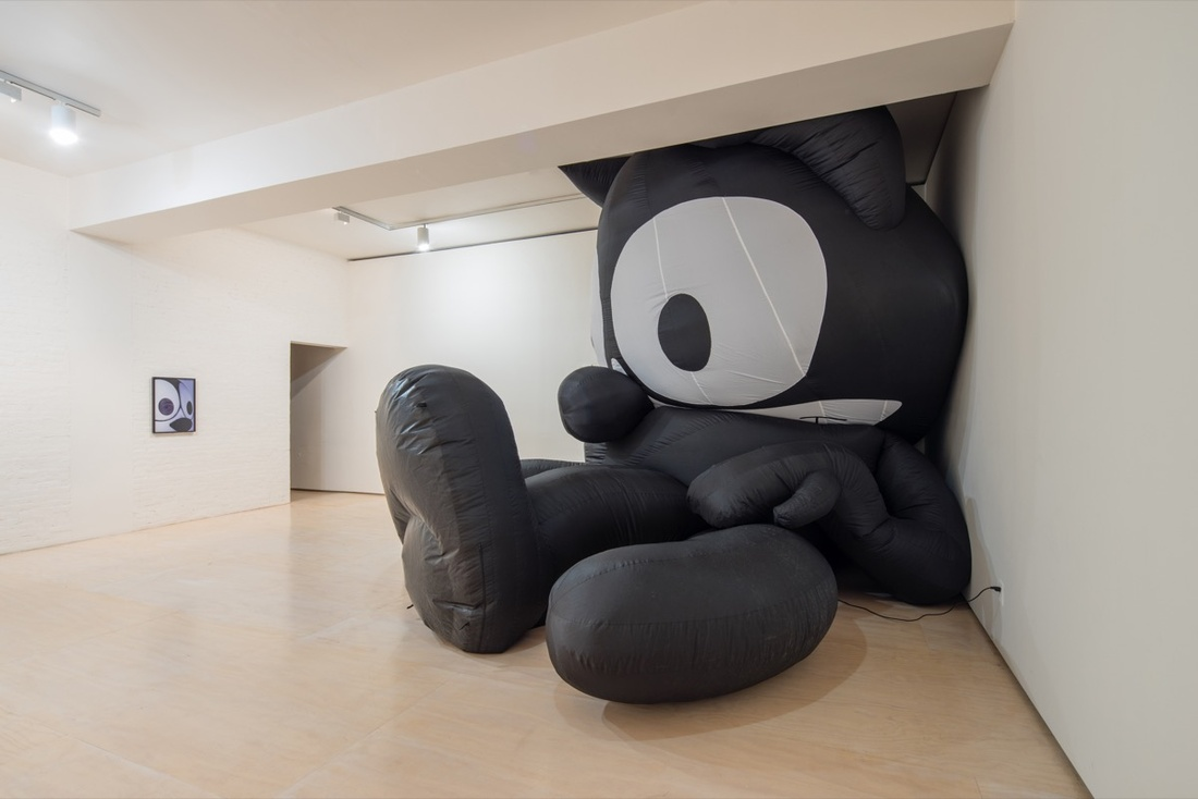 Installation view of Mark Lecky, Felix The Cat, 2013, at MoMA PS1. Photograph by Pablo Enriquez, courtesy of the artist and MoMA PS1.