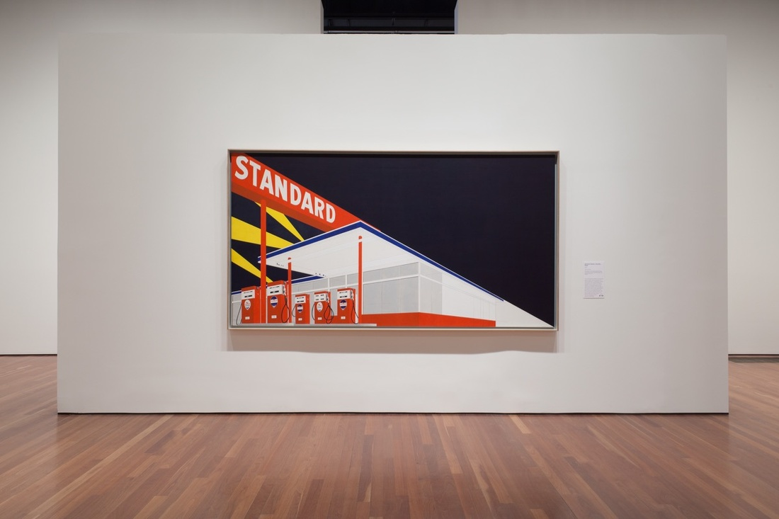 "Installation view of ""Ed Ruscha and the Great American West"" at the de Young Museum, San Francisco, by Margo Moritz for Artsy."