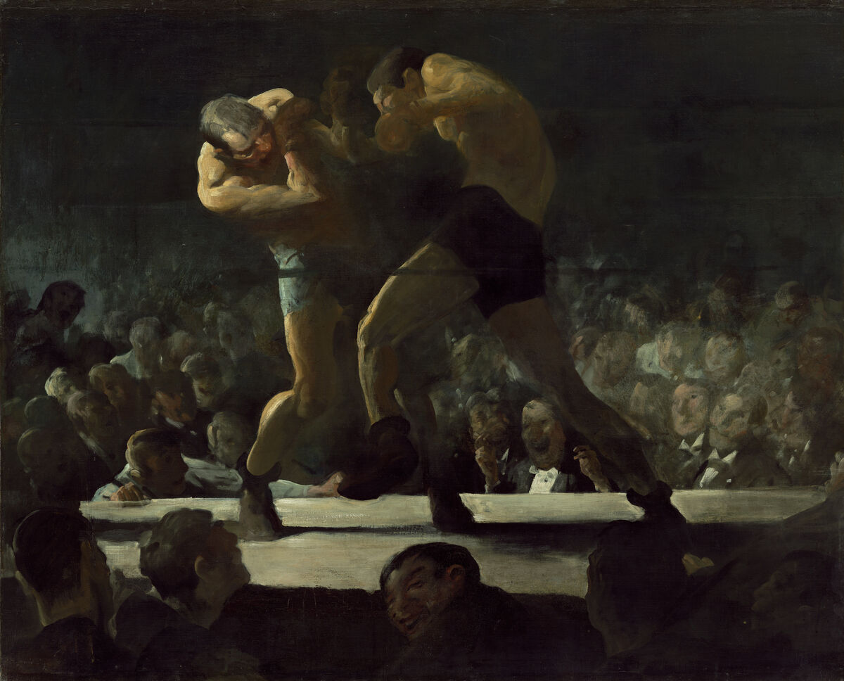George Bellows, Club Night, 1907. Courtesy of the National Gallery of Art.