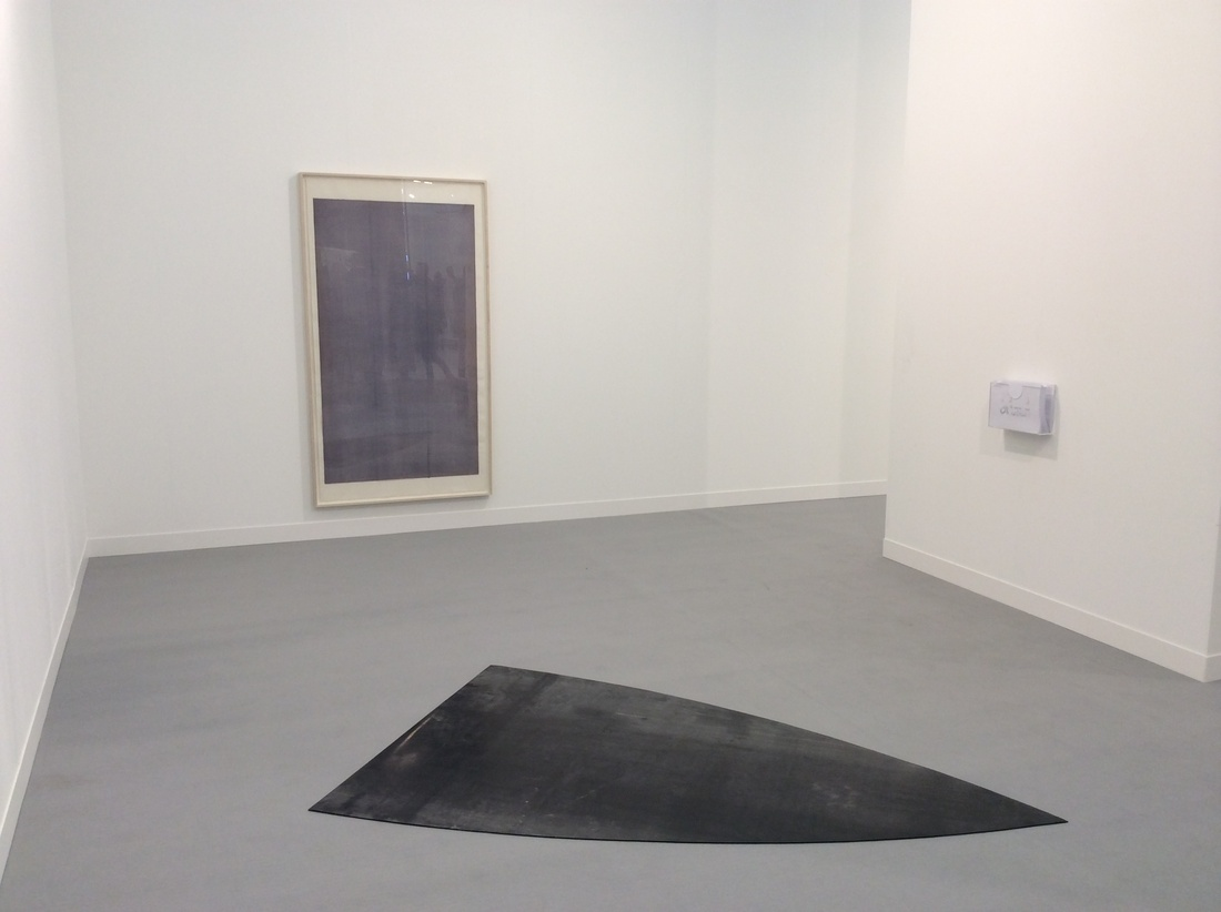 Installation view of works by Jay Chung & Q Takeki Madea at Cabinet's booth,Frieze London, 2015. Courtesy ofthe gallery.