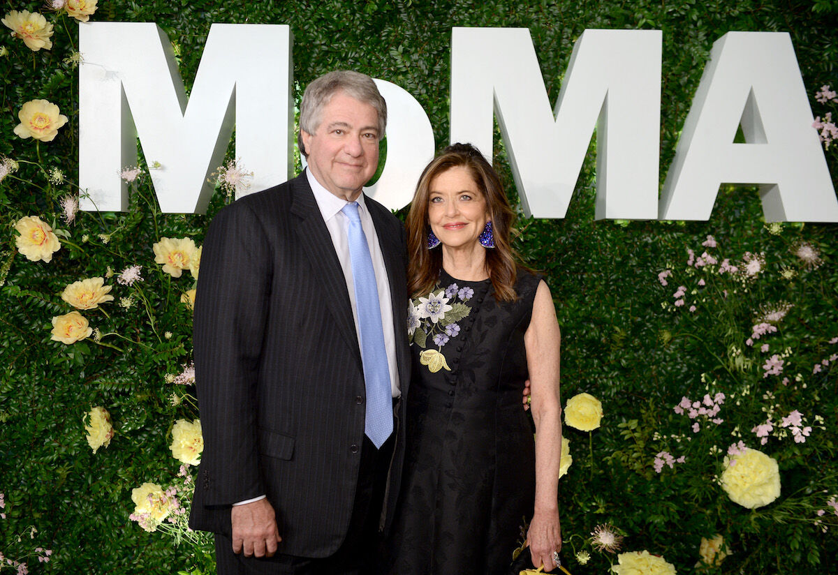 Leon and Debra Black at the Party in the Garden at the Museum of Modern Art on May 31, 2018. Photo by Andrew Toth/Getty Images for the Museum of Modern Art.