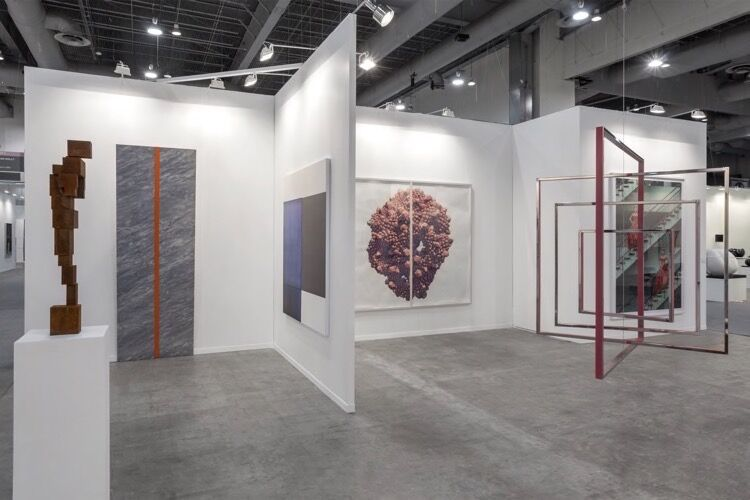 Installation view Sean Kelly Gallery's booth at ZsONA MACO, 2018. Courtesy of Sean Kelly Gallery. Photo by Sebastiano Pellion di Persano.