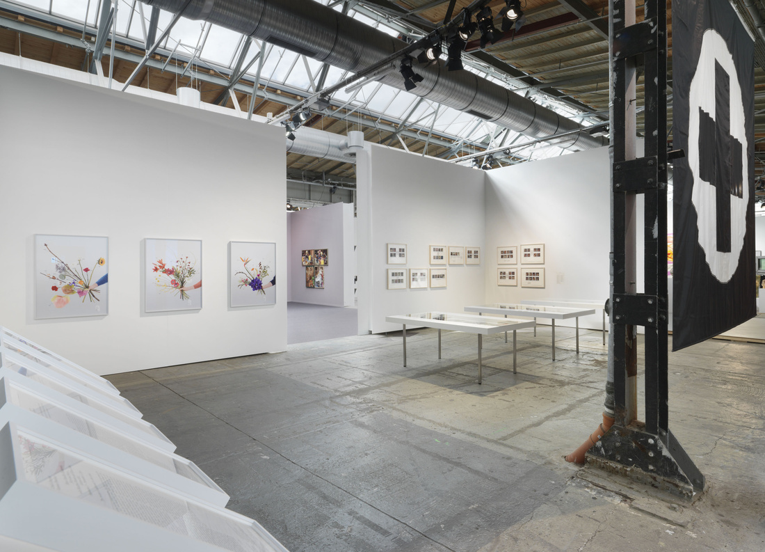 Installation view of Capitain Petzel's booth, Art Berlin Contemporary, 2015. Photo by Jens Ziehe, © the artists, courtesy Capitain Petzel, Berlin.