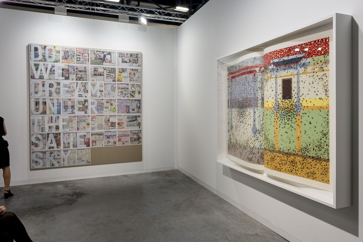 Installation view of Pilar Corrias Gallery's booth at Art Basel in Miami Beach, 2016. Photo by Alain Almiñana for Artsy.