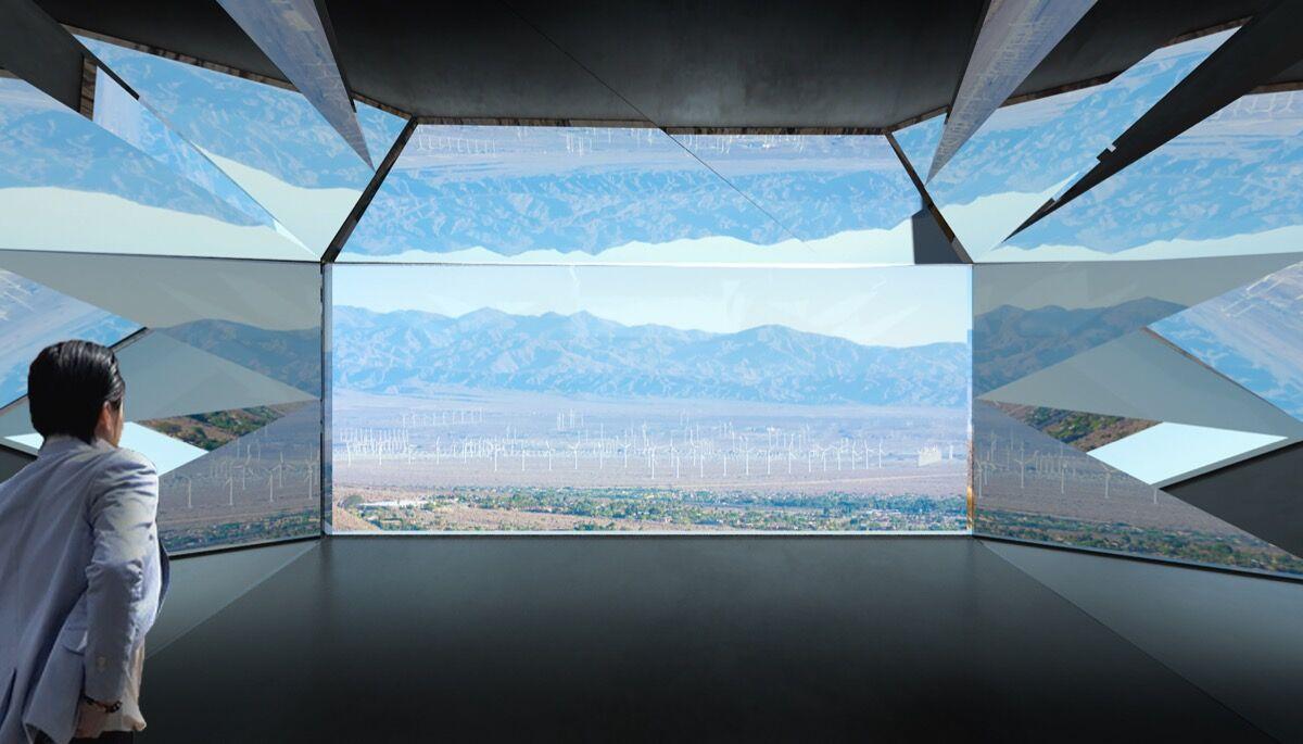 Doug Aitken Workshop, Mirage, 2017, rendering, Palm Springs, California. Courtesy of Doug Aitken Workshop.