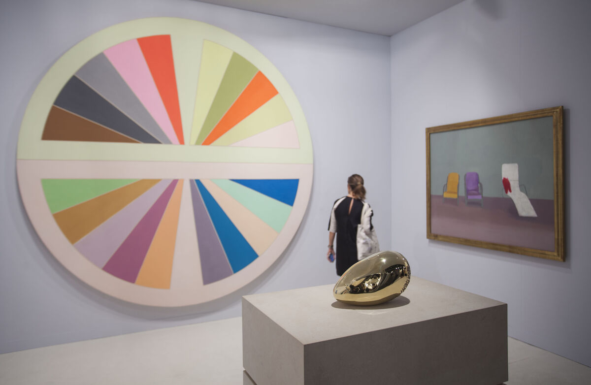 Installation view of Paul Kasmin Gallery's booth at Art Basel in Miami Beach, 2015.Photo byOriol Tarridas for Artsy.