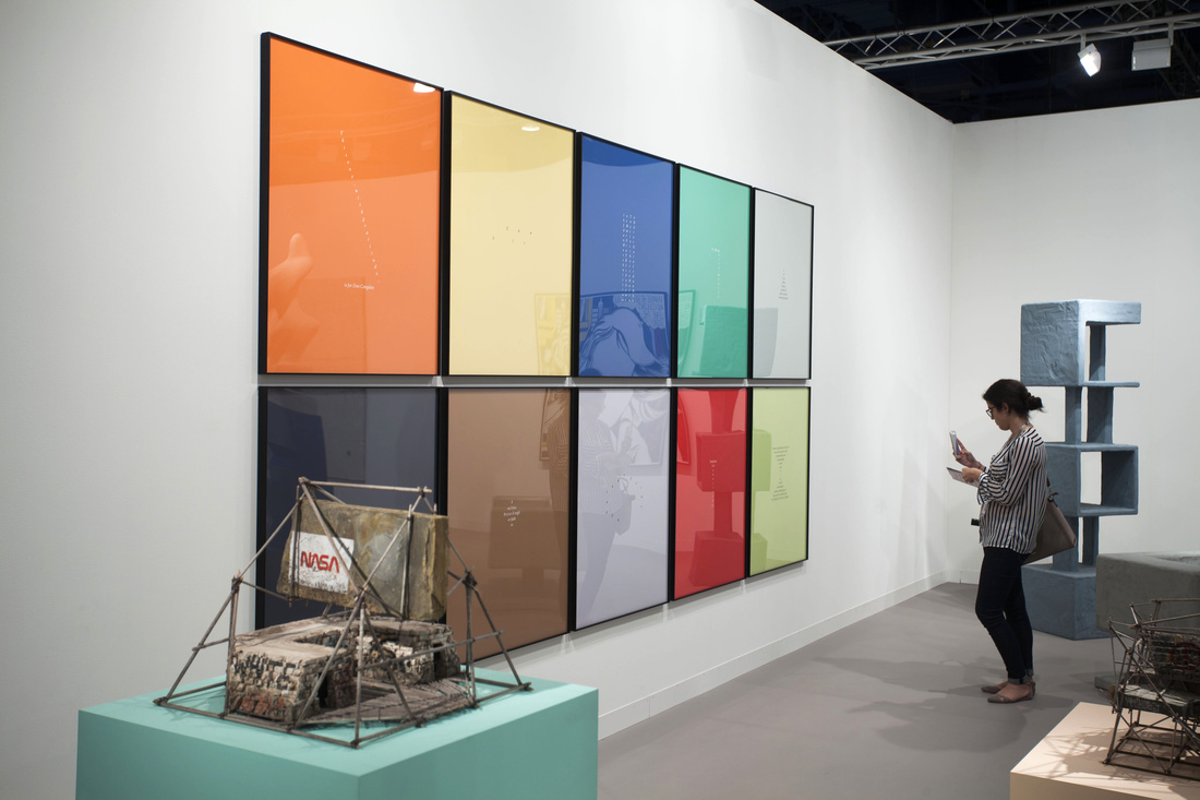 Installation view of Galería OMR's booth at Art Basel in Miami Beach, 2015. Photo by Oriol Tarridas for Artsy.