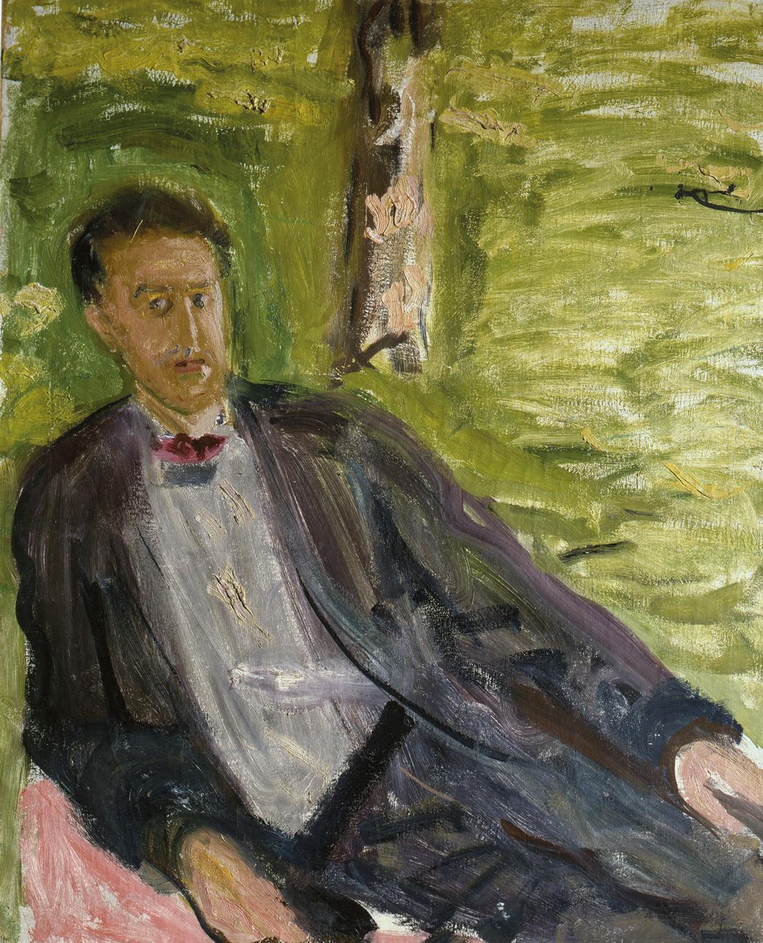 Gerstl, Portrait of a Man (Green background), 1908.