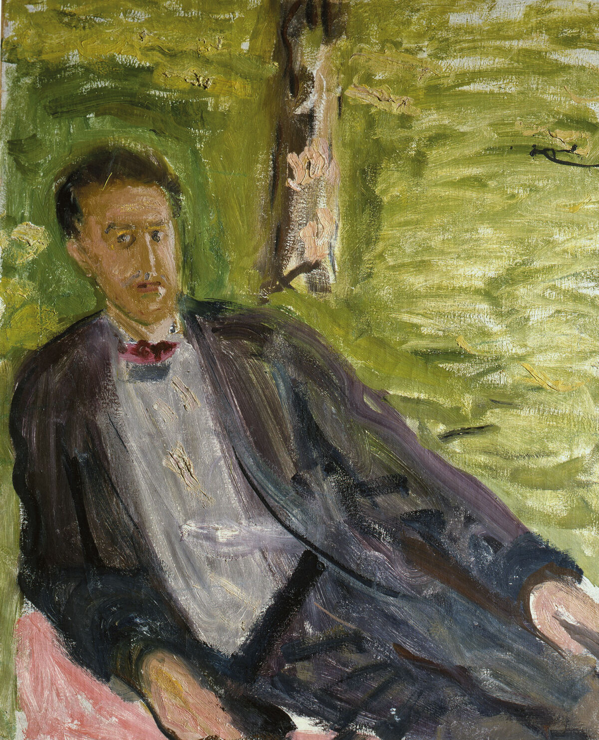 Gerstl, Portrait of a Man (Green background), 1908.