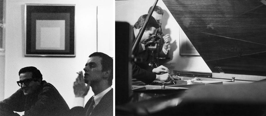 """Installation viewsof""""Josef Albers aus: hommage to the square und strukturale konstellationen,"""" at (op)art galerie esslingen, 1965, courtesy of Galerie Hans Mayer"""