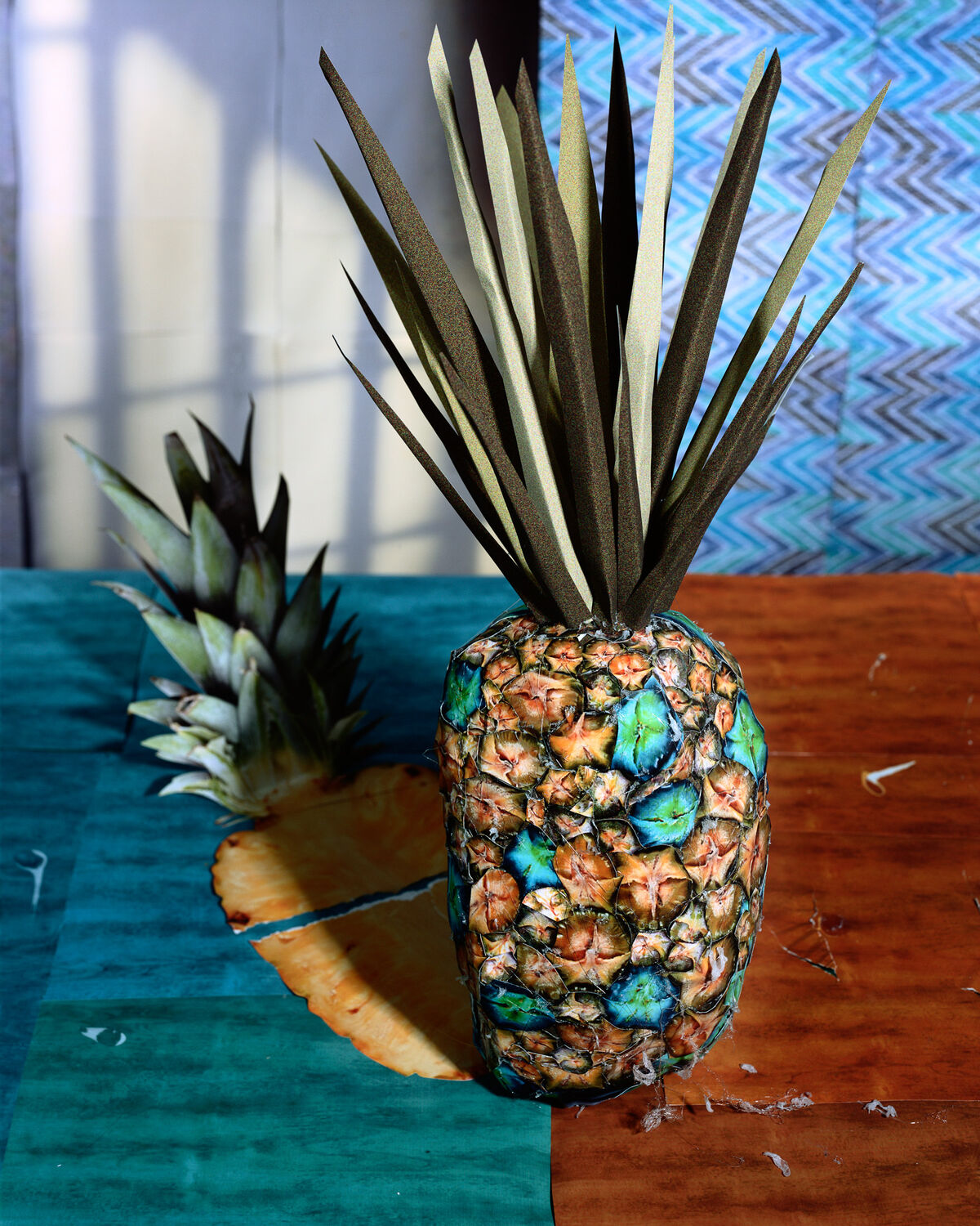 Daniel Gordon, Pineapple and Shadow, 2011; Image from Feast for the Eyes (Aperture, 2017). Courtesy of the artist and James Fuentes Gallery, New York.