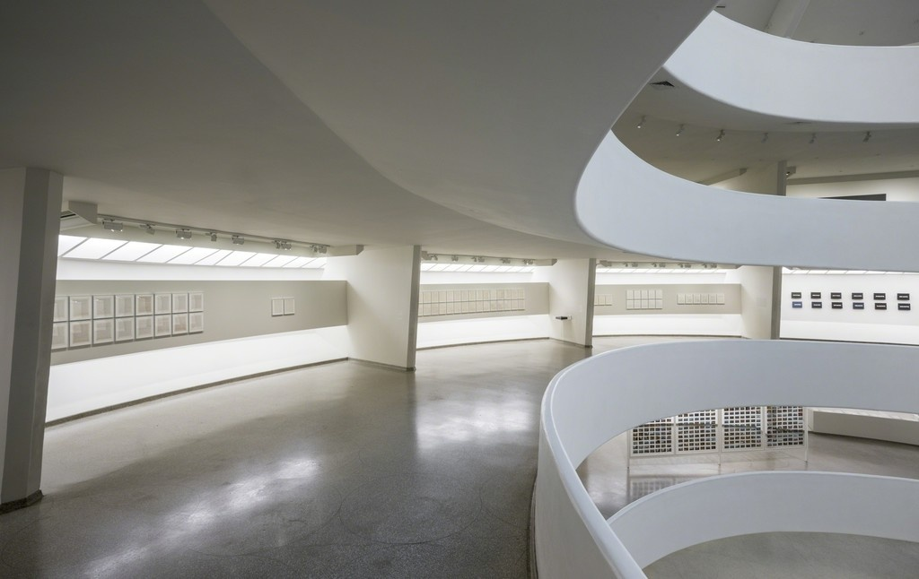 """Installation view of""""On Kawara—Silence,""""courtesy of the Guggenheim Museum"""