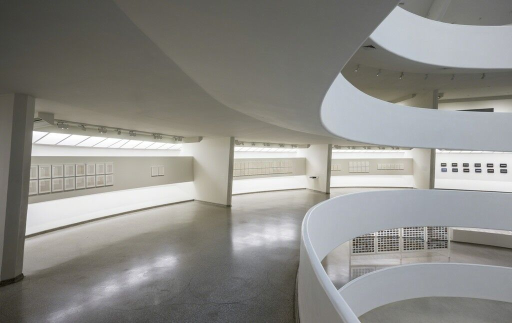 "Installation view of ""On Kawara—Silence,"" courtesy of the Guggenheim Museum"