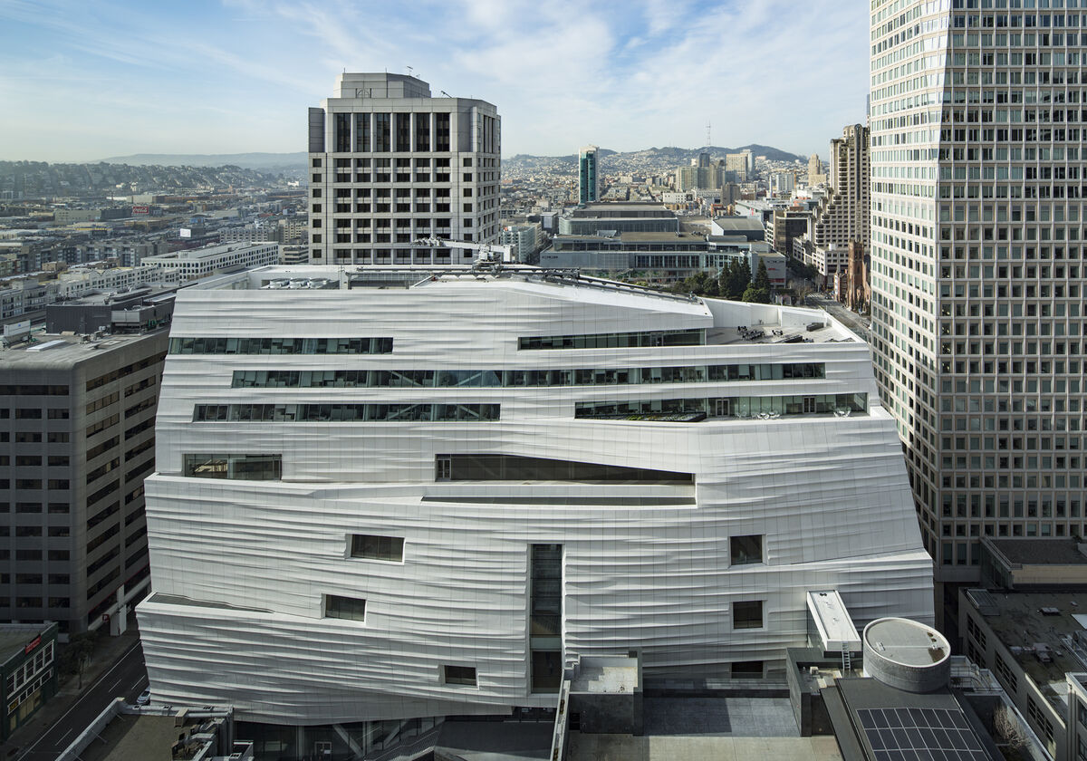 Snøhetta expansion of the new SFMOMA, opening May 14, 2016. Photo © Henrik Kam, courtesy of SFMOMA.
