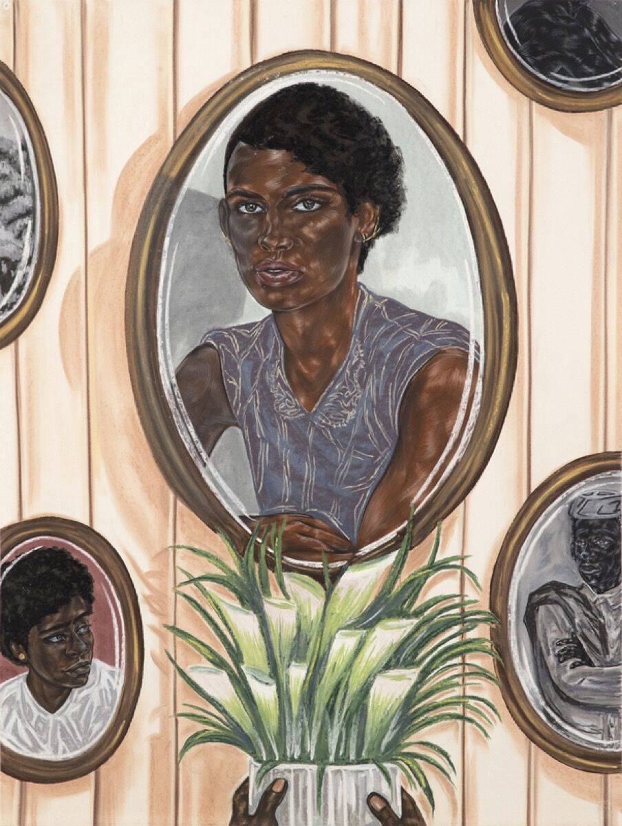 Toyin Ojih Odutola, Wall of Ambassadors, 2017. ©Toyin Ojih Odutola. Courtesy of the artist and Jack Shainman Gallery, New York.