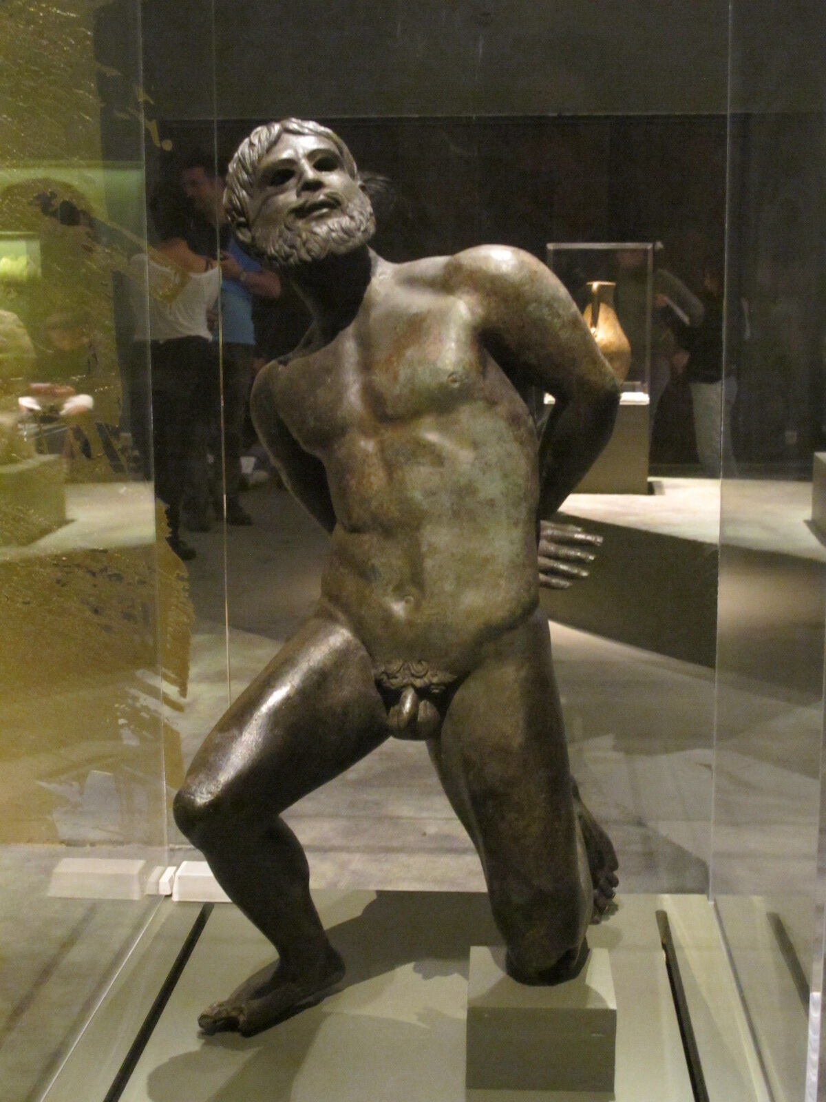 A bronze sculpture from the first century B.C.E. that was recently censored by Facebook. Photo by ho visto nina volare, via Wikimedia Commons.