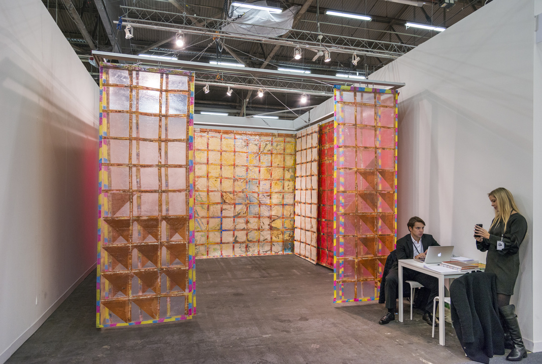 Installation view of SIM Galeria's booth at The Armory Show, 2016. Photo by Adam Reich for Artsy.