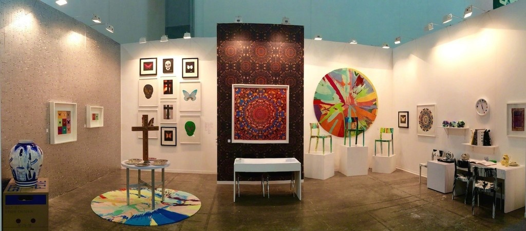 Installation image of the Other Criteria booth at Zona MACOcourtesy of the gallery.