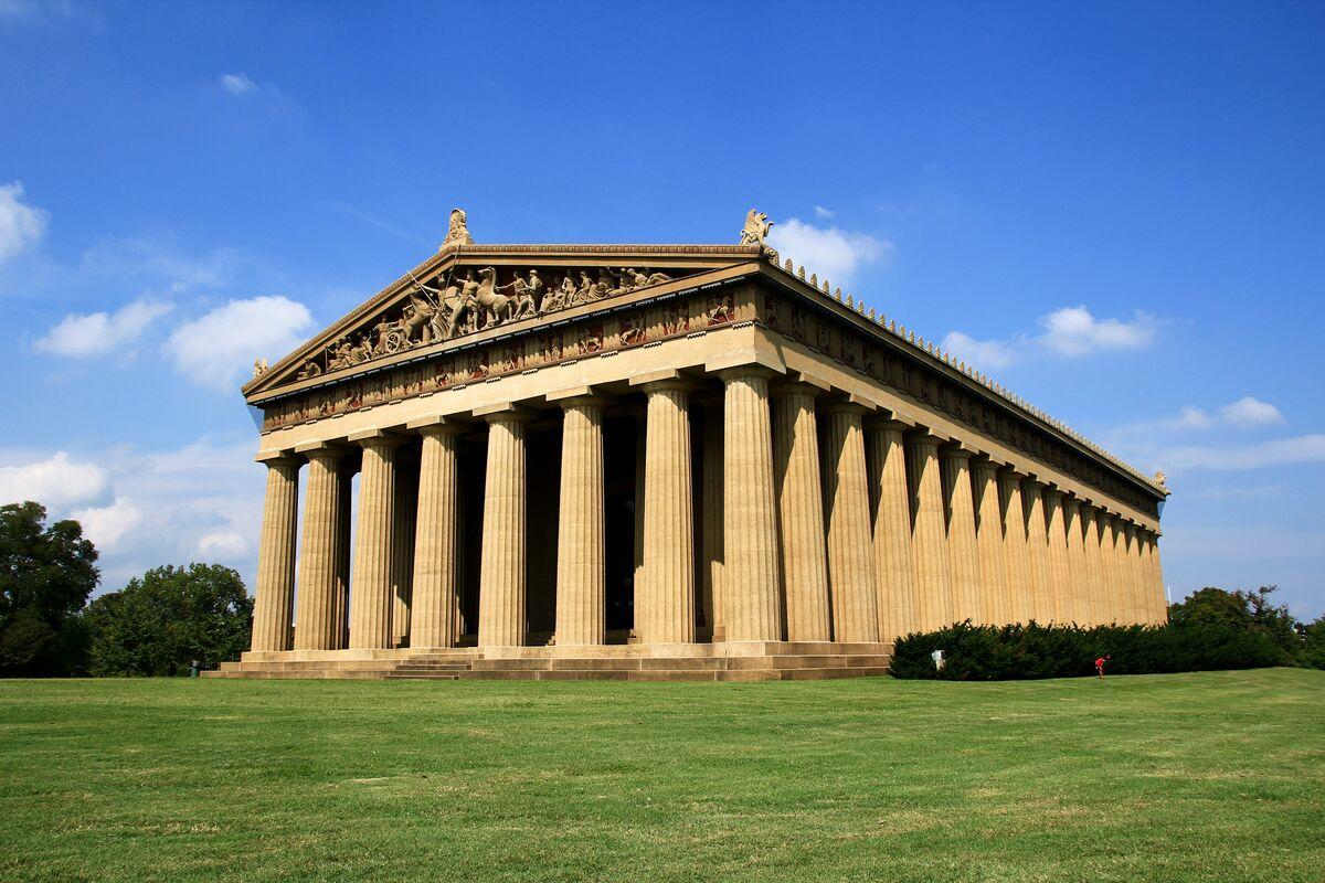 Parthenon, Nashville, via Wikimedia Commons.