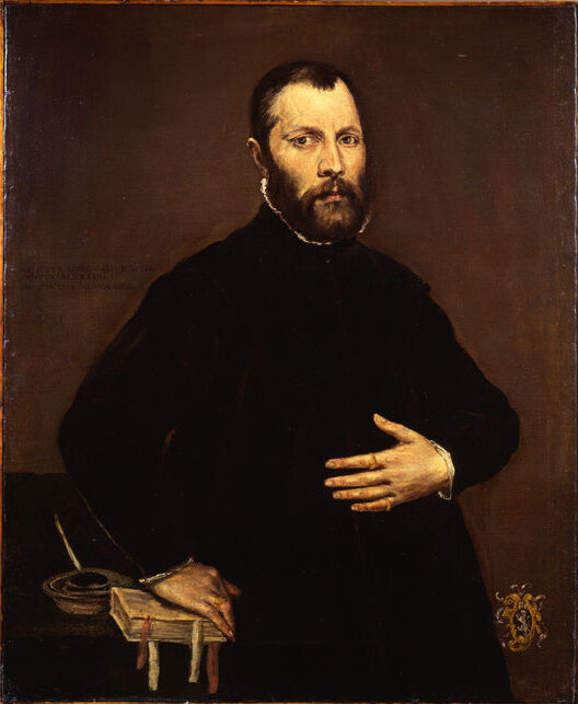 El Greco, Portrait of a Gentleman, 1570. Image courtesy of the Commission for Looted Art in Europe.