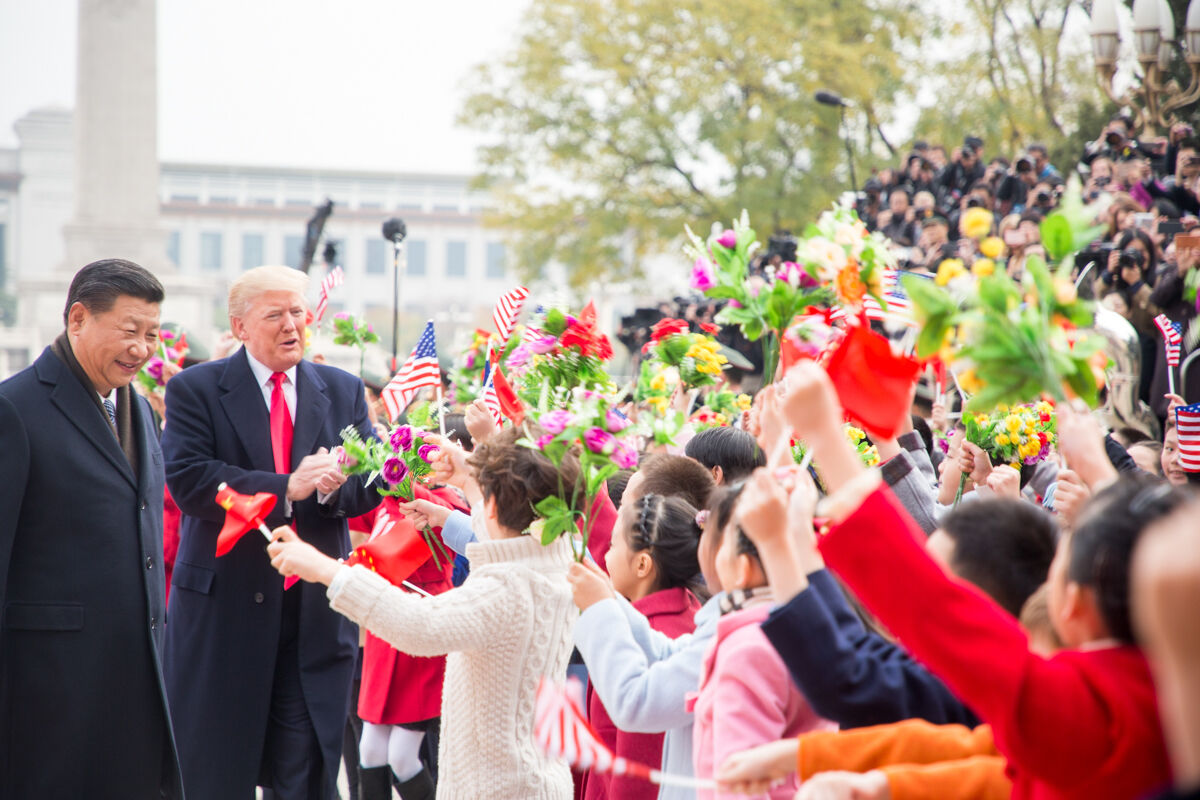 U.S. President Donald Trump and Chinese President Xi Jinping during Trump's visit to China in November 2017. Official White House photo by Shealah Craighead, via Flickr.