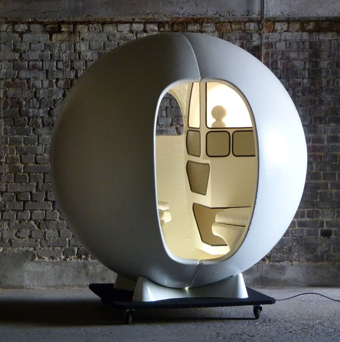 Maurice-Claude Vidili, Isolation Sphere, 1971.  Courtesy of Maison Gerard.