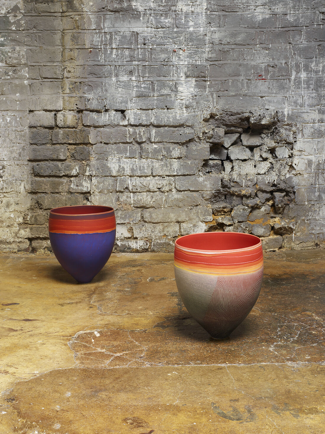 Dalmore Plains Tanami & Discovery Well vessels by Pippin Drysdale, represented by Joanna Bird Contemporary Collections. Photography by Angela Moore, styling by Despina Curtis.