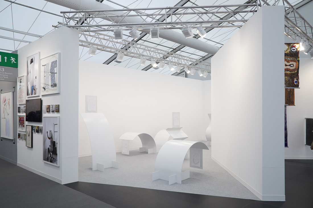 Installation view of Gavin Brown's enterprise's booth at Frieze London 2015. Photo by Benjamin Westoby for Artsy.