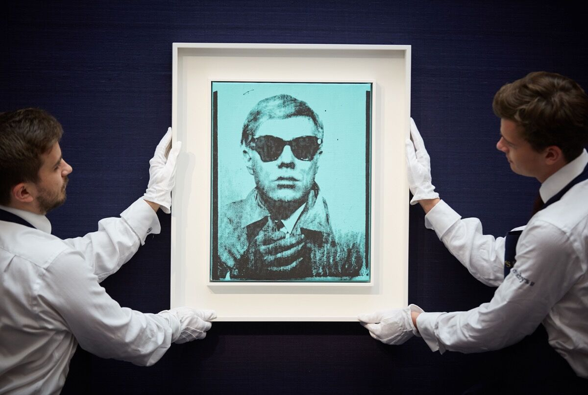 Sotheby's Contemporary Art Day Auction. Image courtesy of Sotheby's.