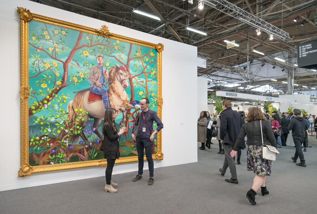 Installation view of Sean Kelly's booth at The Armory Show, 2016. Photo by Adam Reich for Artsy.