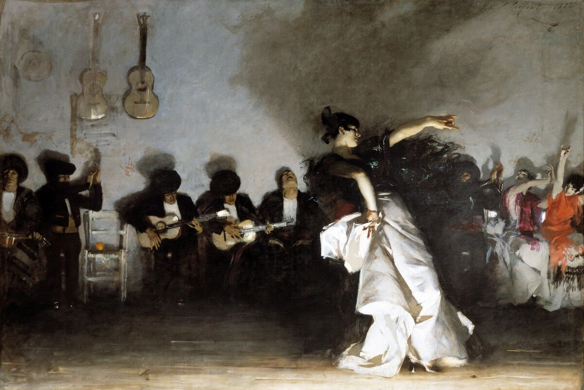 John Singer Sargent, El Jaleo, 1882, via Wikimedia Commons.