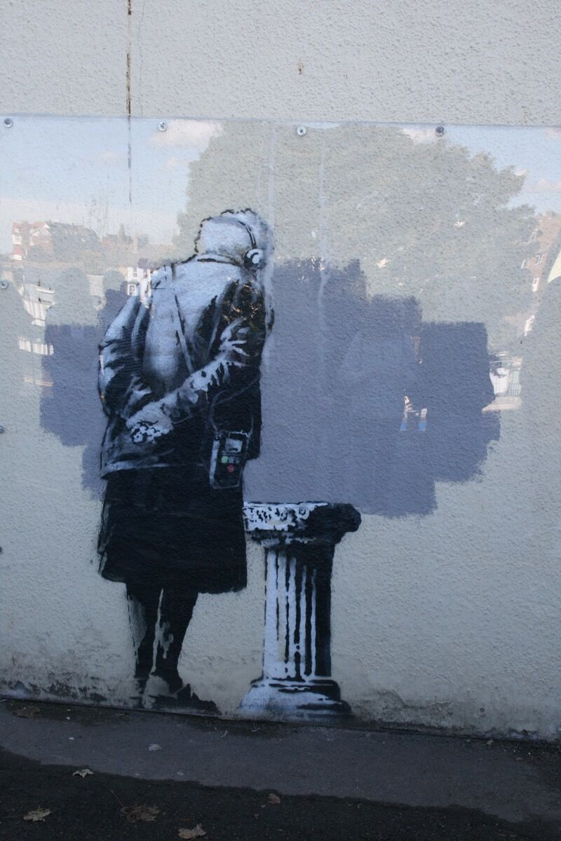 Banksy, Art Buff, 2014. Photo by Angus Willson, via Flickr.