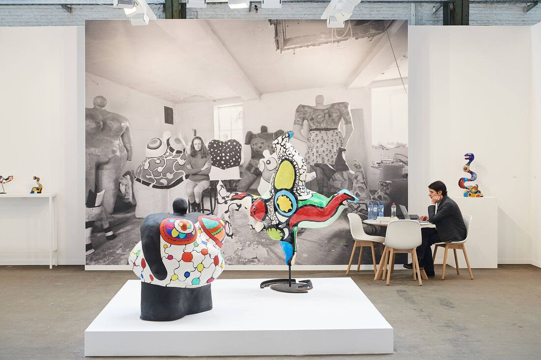 SOLO presentation by Niki de Saint Phalle in Galerie Mitterand' stand at Art Brussels 2017. Courtesy Art Brussels.