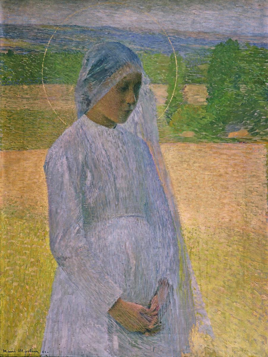 Henri Martin, Young Saint (Jeune sainte), 1891. Photo © Musée des Beaux-Arts, Brest, France.