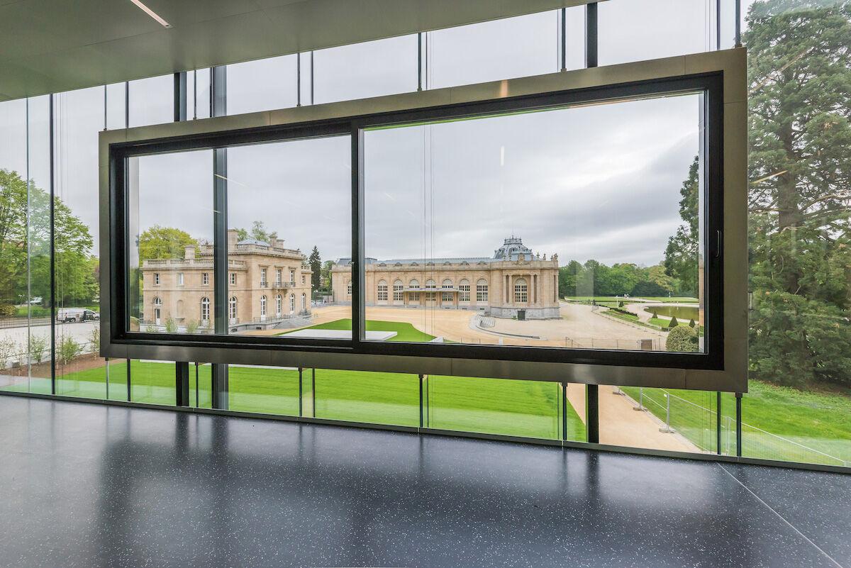 View from the new Visitor's Pavilion at the Africa Museum. Photo © RMCA, Tervuren, photo Jo Van de Vijver.