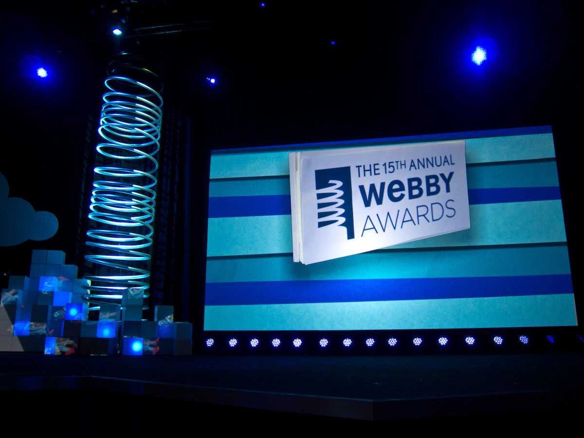 The Webby Awards ceremony in 2011. Photo by Scott Beale/Laughing Squid, via Flickr.