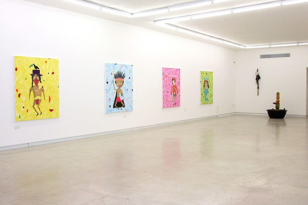 "Installation view of ""No Fear, Dead or Alive,"" Walter Otero Contemporary Art, San Juan. Courtesy Walter Otero Contemporary Art and the artist."