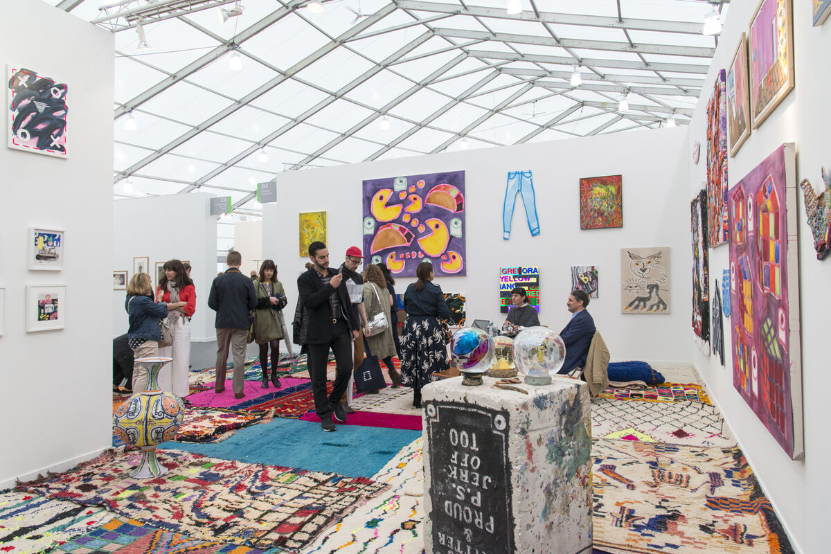 Installation view of CANADA's booth at Frieze New York, 2016. Photo by Adam Reich for Artsy.