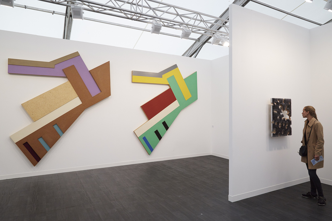 Installation view of Marianne Boesky's booth at Frieze London 2015. Photo by Benjamin Westoby for Artsy.