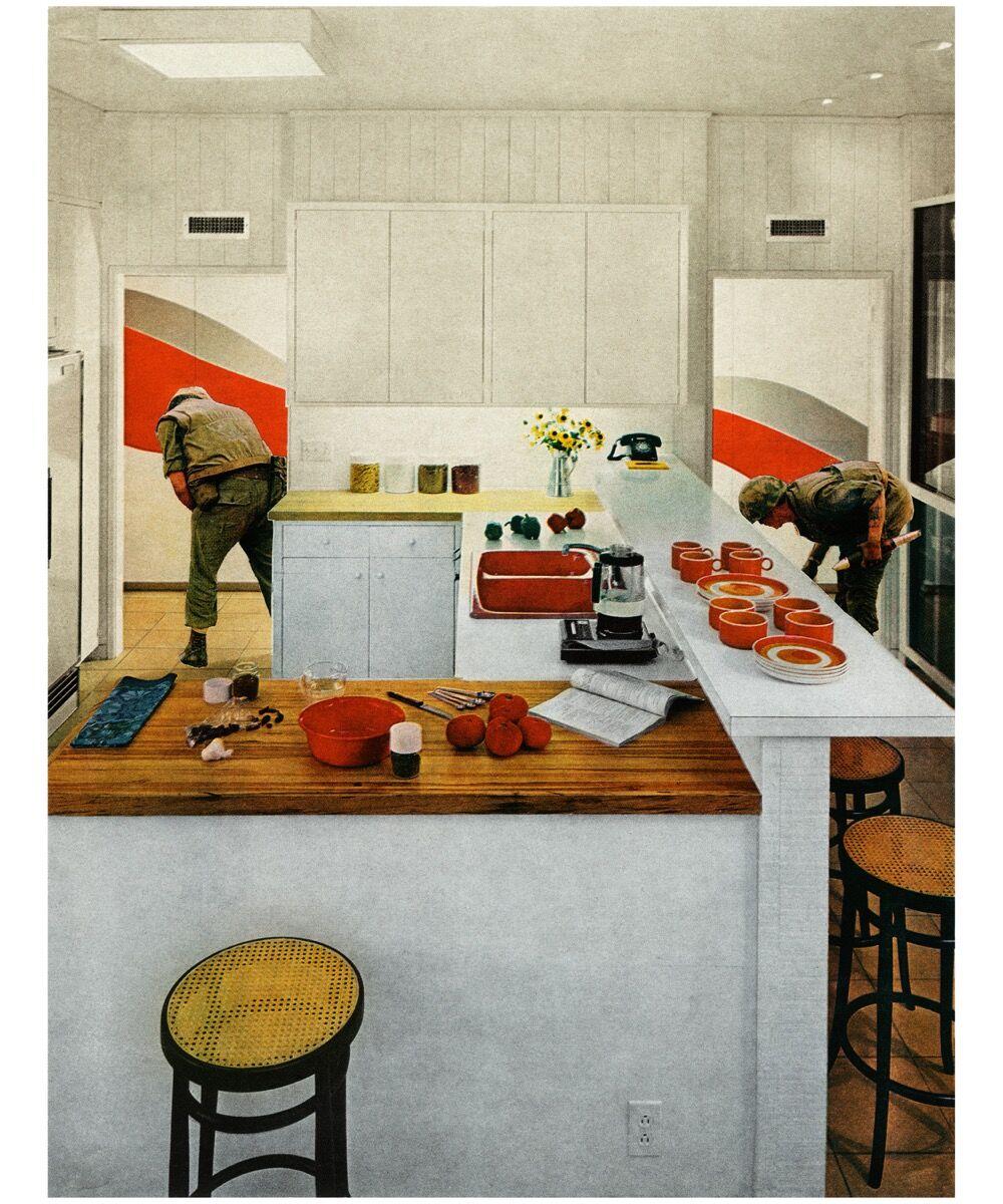 Martha Rosler, Red Stripe Kitchen, 1967-72. © Martha Rosler. Courtesy of the artist, Nagel Draxler Berlin / Cologne, Mitchell Innes & Nash / New York.