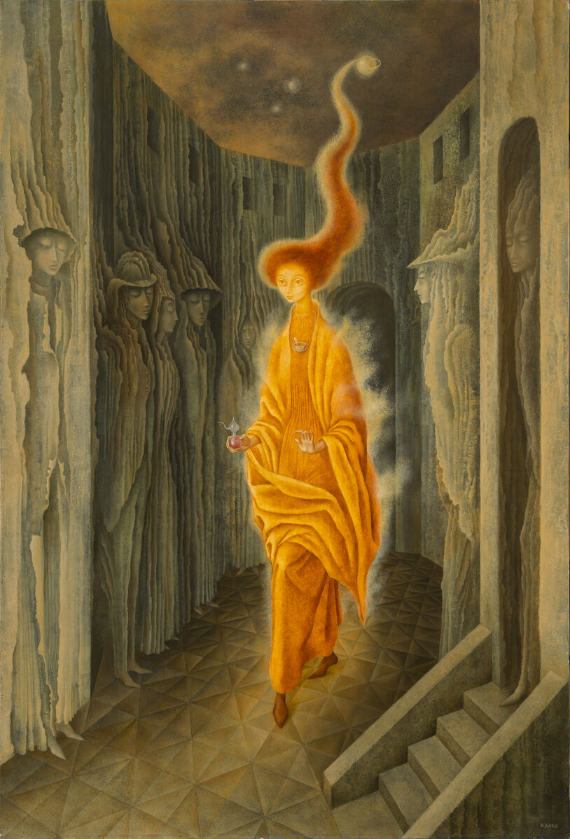 Remedios Varo, La Ilamada (The Call), 1961. Courtesy of the National Museum of Women in the Arts.