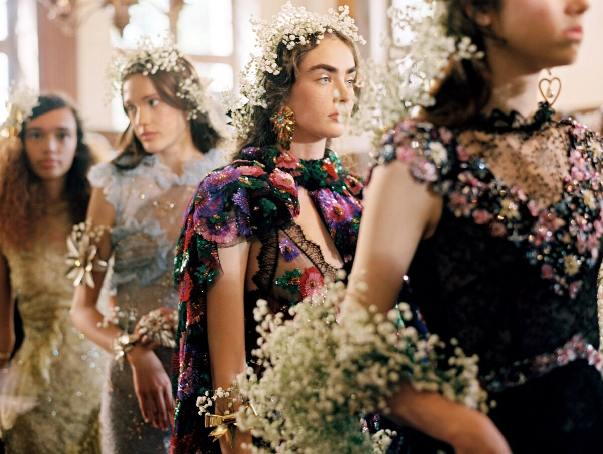 Rodarte, Spring/Summer 2018 backstage. Photo © Autumn de Wilde. Courtesy of the National Museum of Women in the Arts.