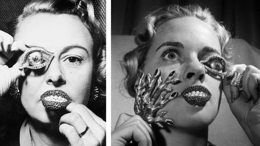 Examples of Salvador Dalí's jewelry.