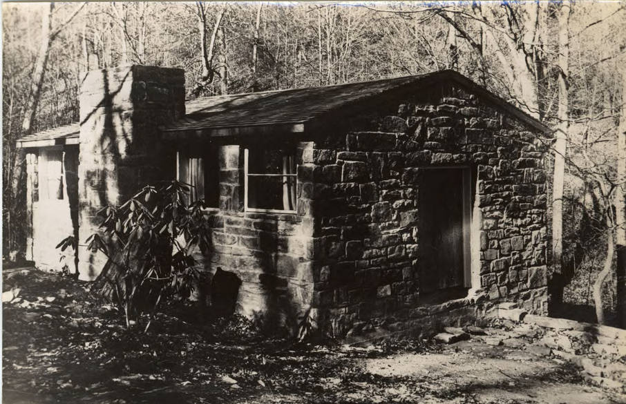 Alex Reed, Quiet House (memorial to Mark Dreier), Lake Eden Campus, Black Mountain College, Black Mountain College Records. Courtesy of Western Regional Archives.