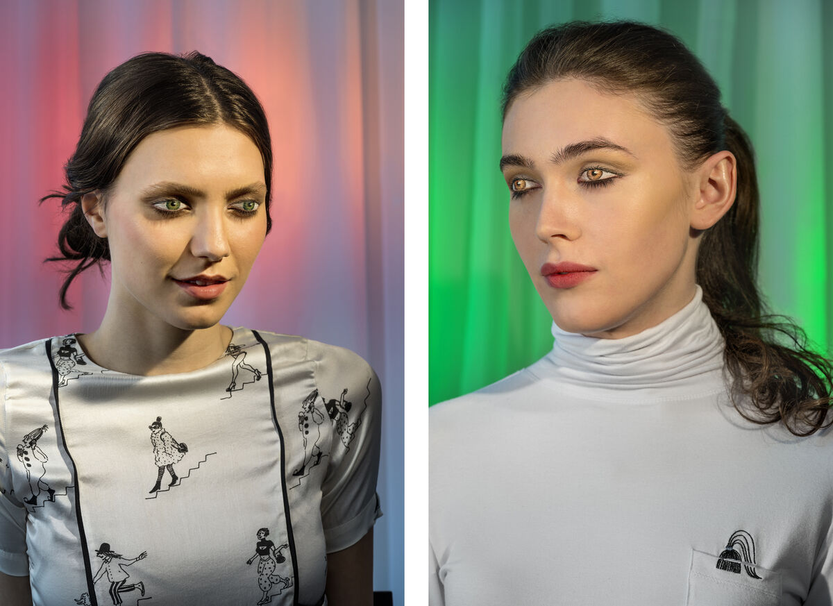 Laurie Simmons,How We See/Tatiana (Pink), 2015, andHow We See/Edie (Green),2015, © Laurie Simmons, courtesy the artist and Salon 94.
